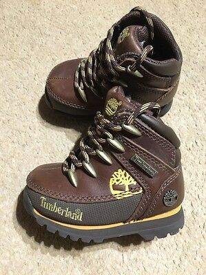 Timberland Baby Boots Leather Size Uk 5 Eu  22 Infant . Brand New