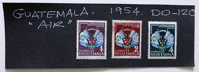 1954 Selection Guatemala used/mint hinged Stamps 'Air Issue' No DD-120.