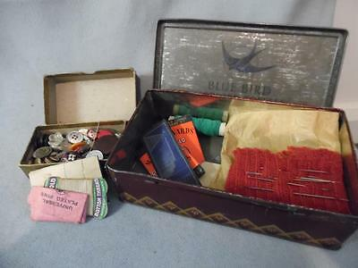 Vintage Joblot Sewing Accessories & Buttons in Vintage Tins