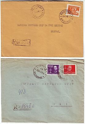 YUGOSLAVIA 1946/47 2x registered covers with native cancels
