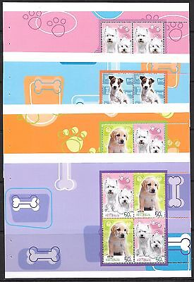 AUSTRALIA 2004 Dogs set of 5 sheets from booklet, UM. Face $10.