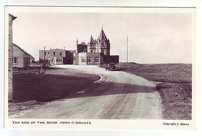 John O'Groats End Of The Road Real Photograph Adams Pre Tourism Shops Car Parks