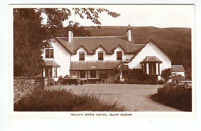 Ogilvy Arms Hotel Glen Clova Angus 19 Sep 1932 Real Photograph D McGibbon Old PC