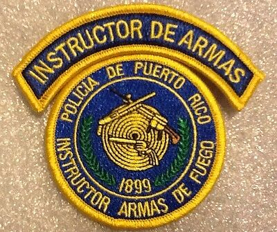Puerto Rico State Police Firearms Instructor Patch With Tab