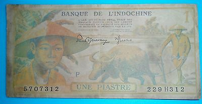 JAPAN PRINTED NOTE - 1944 - 1 PIASTRE (ONE) - 1951 ND - French Indo-China - 1156