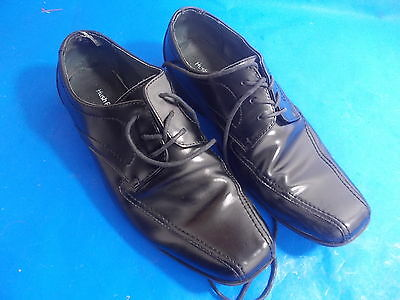 Men Hush Puppies Black Leather Lace Up Formal Shoes Wide Fit EASTON RALSTON UK10