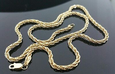 """14 K Yellow Gold 2.35mm Diamond Cut 16"""" Spiral Rope Chain Necklace  (2.10 Grams)"""