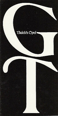 BUICK,S OPEL GT FOLD OUT BROCHURE DATED, Ref.69-0A-58 600M 2/69 LITHO USA.
