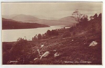 Beneveian Loch Glen Affaric Inverness-shire 1927 Real Photograph Valentines