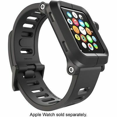 Lunatik Epik 001 Rugged Case Silicone Band For Apple Watch 42mm Black NEW