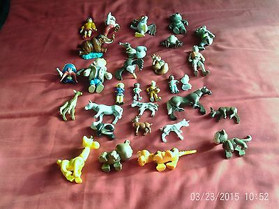 Plastic figures and animals - total of 30