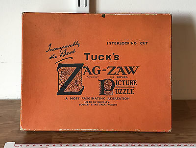 Glass Of Port ~270 pcs Vintage Raphael Tuck's & Son Zag-Zaw Wooden Jigsaw Puzzle