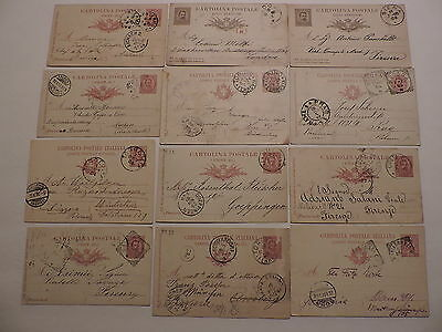 20 postal cards, Italy, 1878-1915