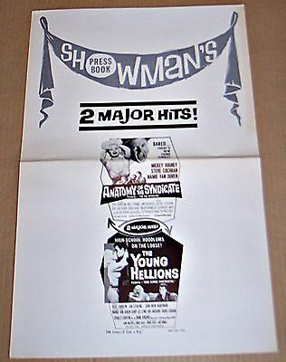 Anatomy Of The Syndicate & Young Hellions * Rare Combo Original Pressbook !