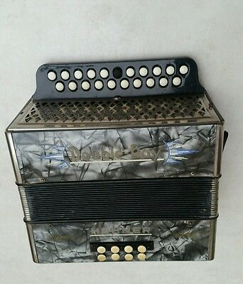 Vintage Hohner Double Ray Melodeon Button Accordion Accordian B C Key