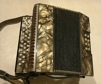 Vintage Hohner Liliput Lilliput Melodeon Button Accordion Accordian C F Key