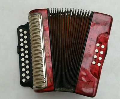 Vintage Hohner Erica Melodeon Button Accordion Accordian C C# Key