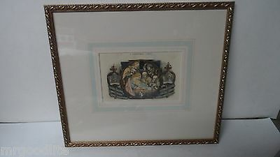 John Leighton Framed Engraving - A CHRISTMAS CAROL - Nativity Image