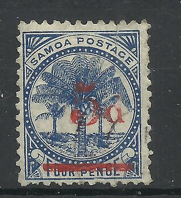 SAMOA 1893 '5d' on 4d, SG 69 or 70, unused no gum