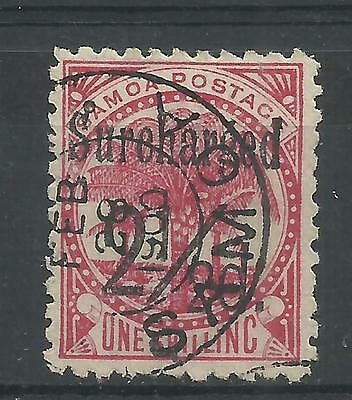 SAMOA 1898-99 2½d on 1/- Surch in black, SG 86, fine used