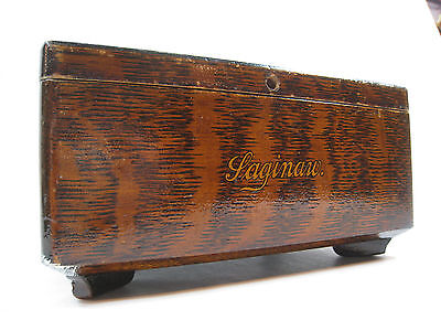 "Antique ""Saginaw"" Tiger Oak Quartersawn Decorative Box Jewelry Humidor Trinket"