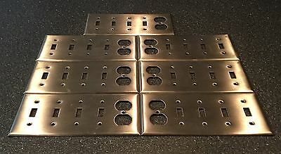 Vintage Lot Of 7 Metal Stainless Steel Outlet Light Switch Cover Plates