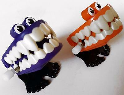 Bulk Lot x 5 Wind Up Chattering Vampire Teeth New Party Favor Novelty Toys