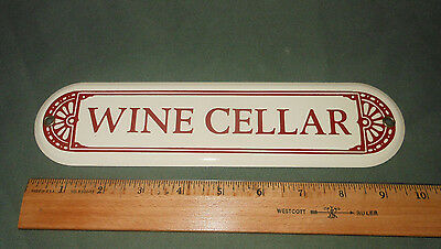 Wine Cellar Sign - Porcelain / Enamel