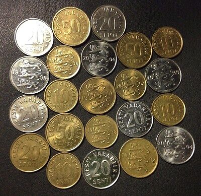 Old Estonia Coin Lot - Uncommon - 22 Great Coins - Lot #D1