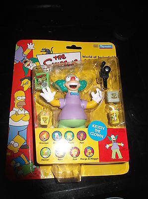 The Simpsons World of Springfield -Krusty The Clown Collectible  Figure BNIB