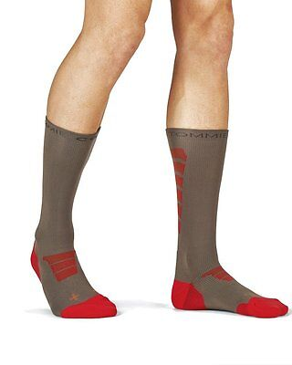 2 Pair of Men's Performance Compression Athletic Crew Socks Large
