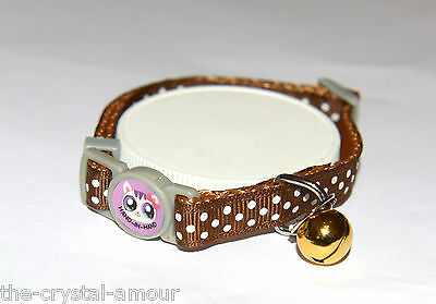 2 X Cute Adult Brown Print, Cat Collars, & Small White Spots