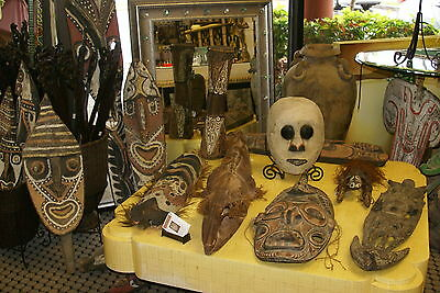 Rare Old Ancestor Japandai Wood Oracle Spirit Mask Sepik Papua New Guinea 13A10