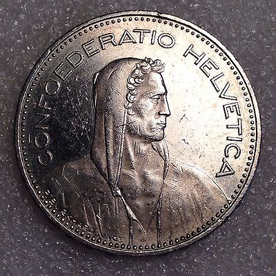 Switzerland 5 Francs 1995 B Large Coin Copper-Nickel