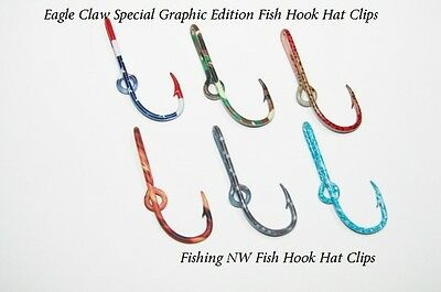 Eagle Claw Graphics Edition Fish Hook Hat Clip / Pin + Free Hat Hook Clip / Pin