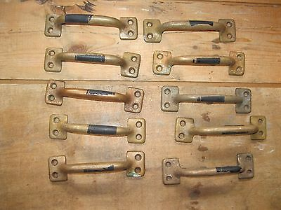 Antique Brass Window Sash Lift Handles Lot of 10