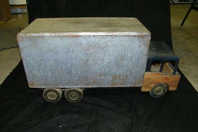 Vintage Handmade Large 2+ Ft Length All Wood Box Truck Toy Childs Toy Crafts