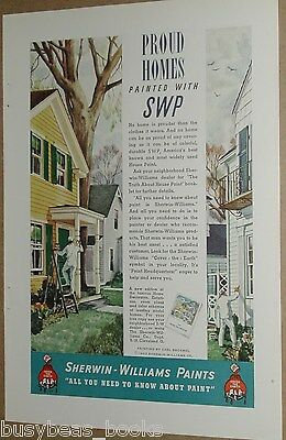 1937 Sherwin-Williams Paint advertisement, house painters, Carl Broemel art