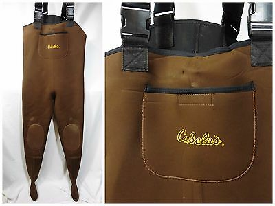 Large Brown Stockingfoot Neoprene Fishing Hunting Chest Waders CABELA'S