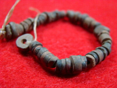 Columbia River, Four Inches Of Rare Steatite Stone Beads From Bead Patch Site