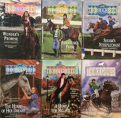 """Lot Of 6 """"thoroughbred"""" Books By Joanna Campbell"""