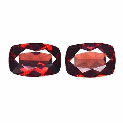 3.400Cts Attractive Luster Red Natural Pyrope / Almandite Garnet Cushion