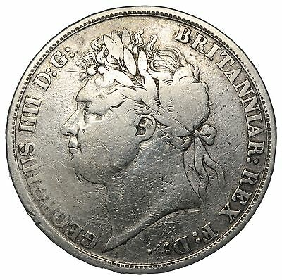 1821 Crown - George Iv British Silver Coin