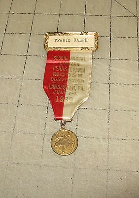 1939 Eastern Pennsylvania 2nd Annual LOOM MOOSE Convention Pinback with Medal
