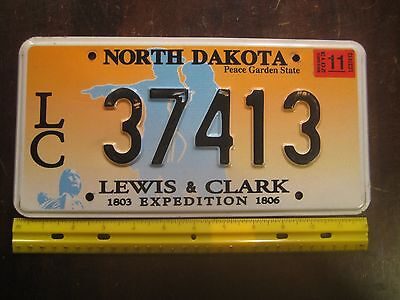 License Plate, North Dakota, Lewis & Clark 1803-1806 Expedition, LC 37413
