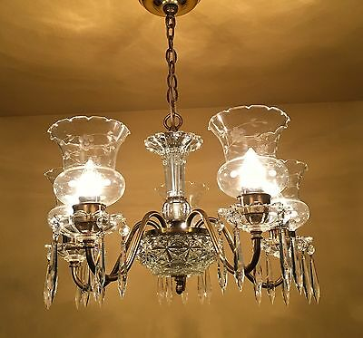 Vintage Lighting circa 1950 Colonial chandelier