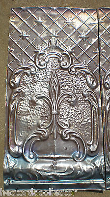 SALE Antique Ceiling Tin Tile Elegant Chic Gothic Pie Cupboard Door Fleur De Li
