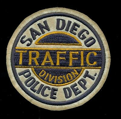 San Diego California Police Traffic Division Felt Reproduction Patch S-3