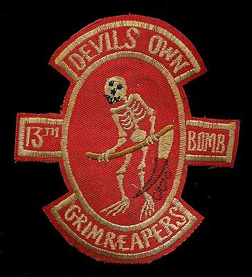 USAF 13th Bomb Squadron B-52 Red Vietnam Patch A-8