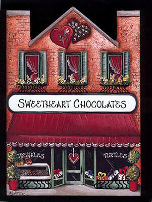 Brandywine Collectible Houses & Shops: SWEETHEART CHOCOLATES Shelf Sitter